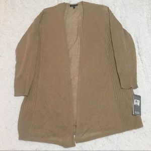 NEW Eileen Fisher Open Cardigan in Brown Size M